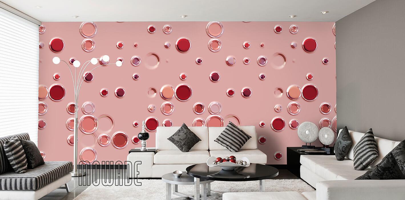 designtapete orange lounge hotel showroom bar modern punkte kreise