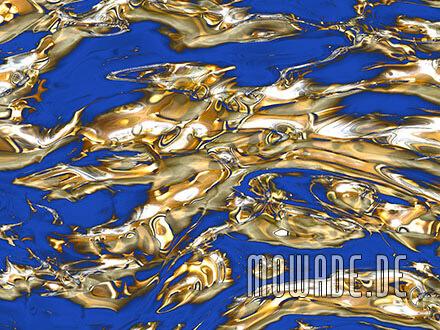 edle tapete blau gold modern