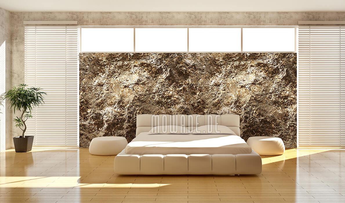 edle vliestapete gold hotel bar wohnzimmer fels-struktur