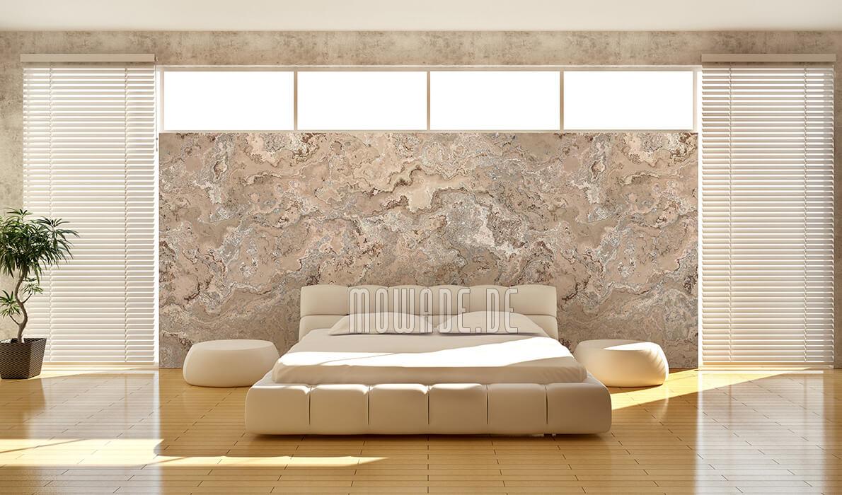 elegante tapete sand farben erd stein struktur wohnzimmer