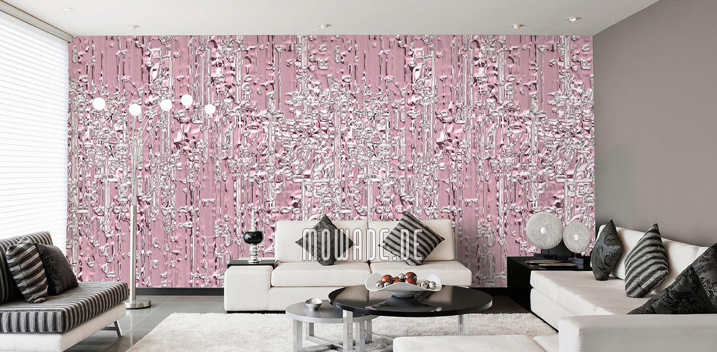 extravagante tapete altrosa vlies wohnzimmer wunschformat