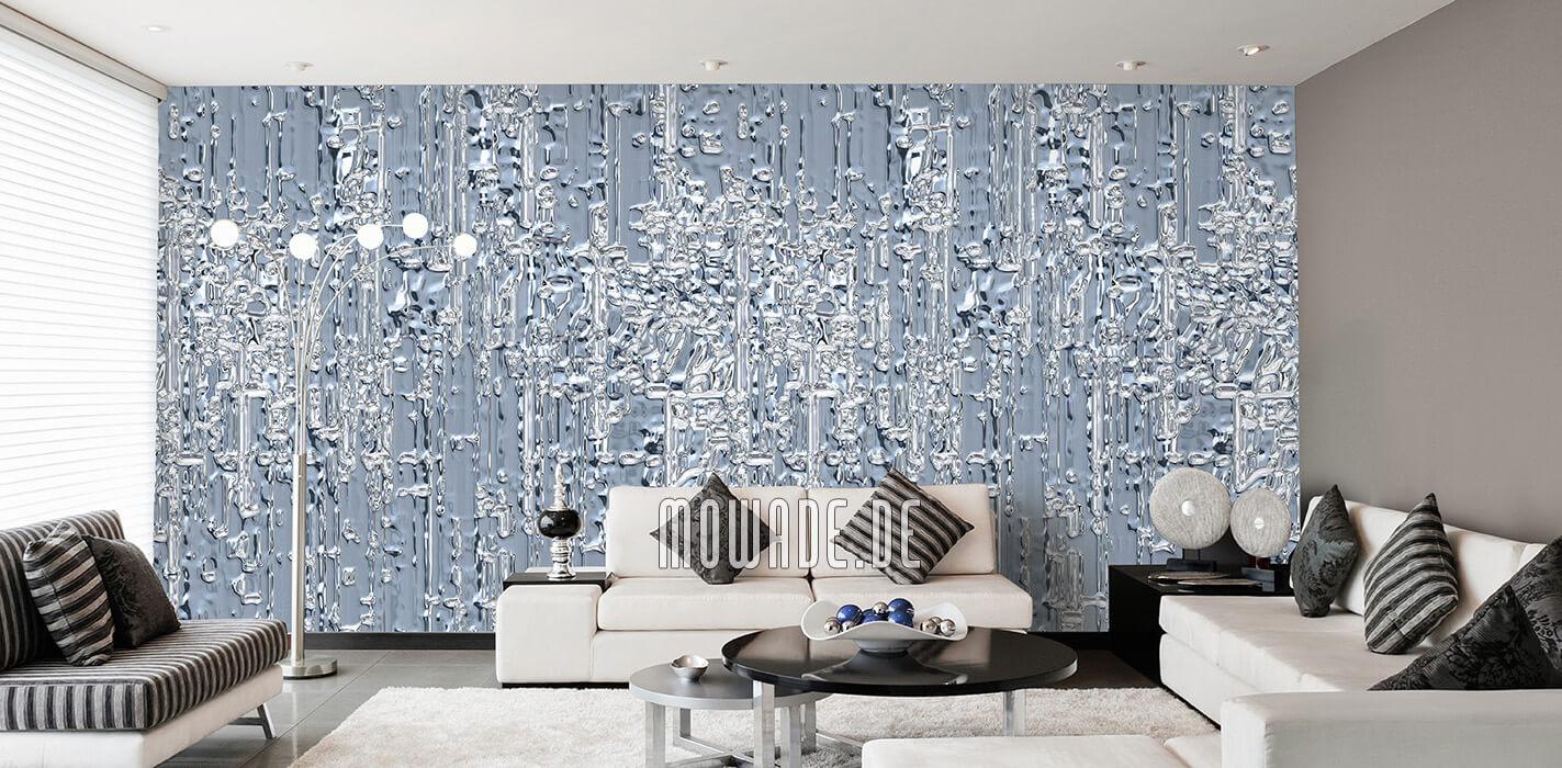 extravagante vlies tapete graublau wohnzimmer wunschformat