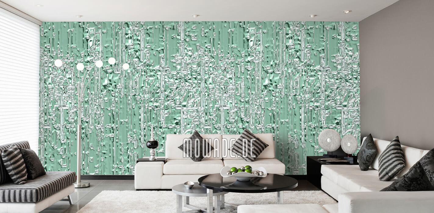 extravagante wandtapete hellgruen wohnzimmer bar online