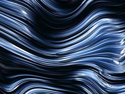 ausgefallenes tapetendesign lounge bar blau schwarz
