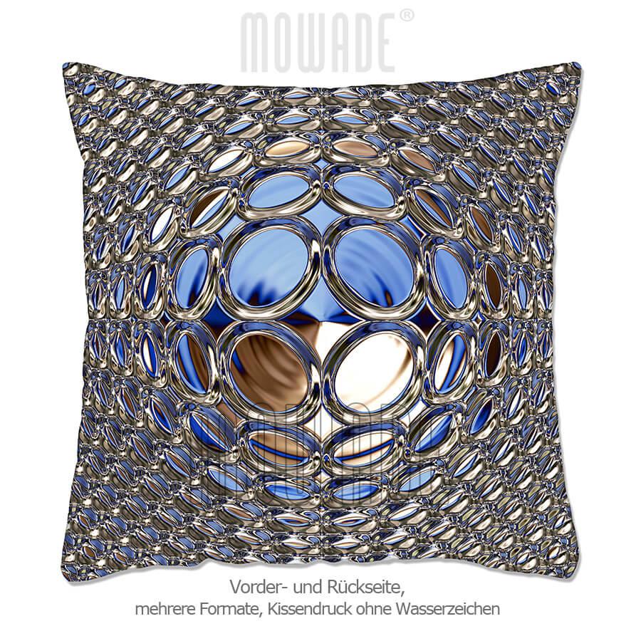 deko-kissen blau gold 70x70 50x50 60x40 50x30 40x40 sofa glamour-kugel
