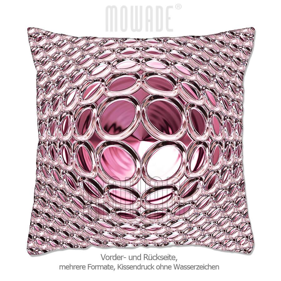 deko-kissen pink rosa 50x50 60x40 50x30 40x40 sofa glamour-kugel