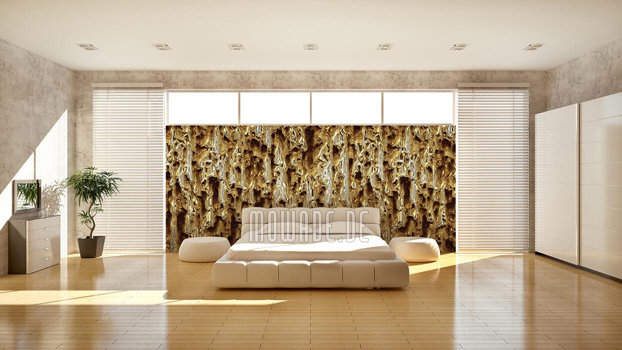 designer bild tapete gold rost dekoration schmelzendes metall