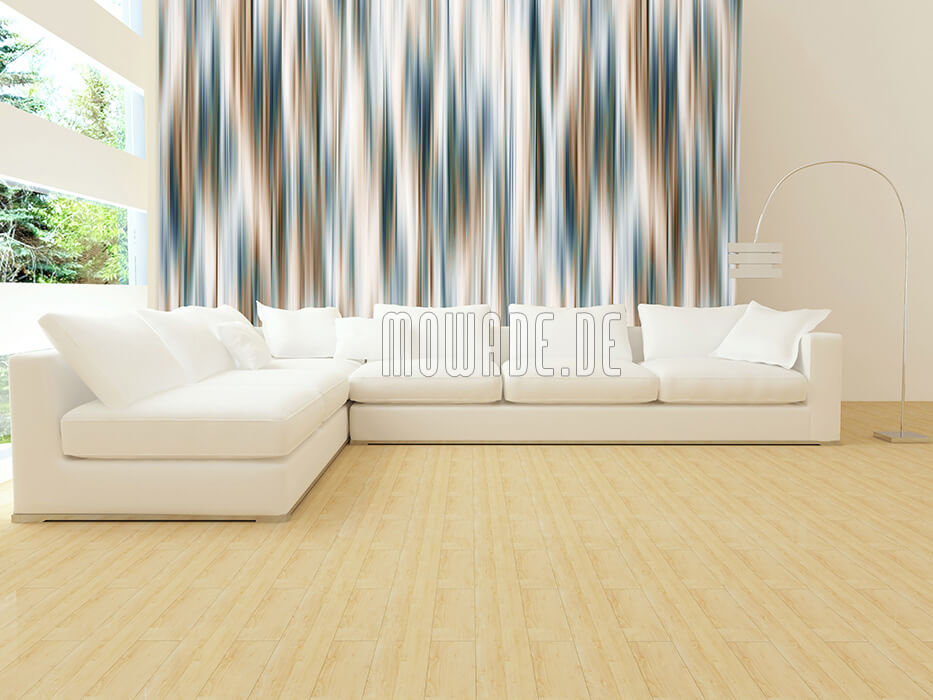 designer streifen tapete tuerkis braun wohnzimmer schimmernde-streifen