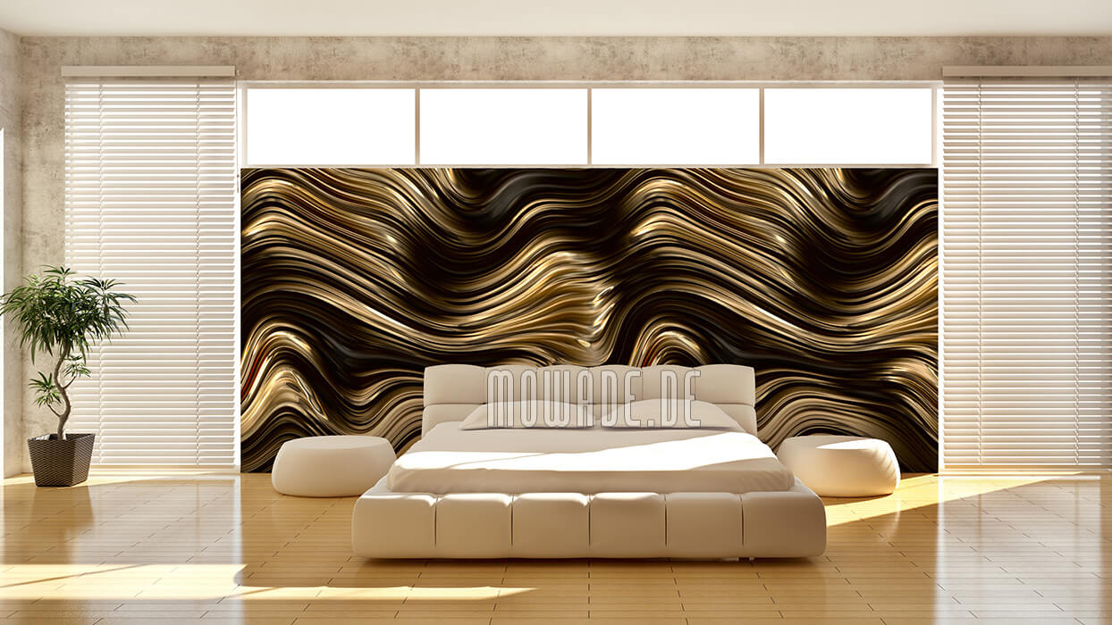 designer wandbelag gold braun vliestapete hotel objekt metalloptik-modern
