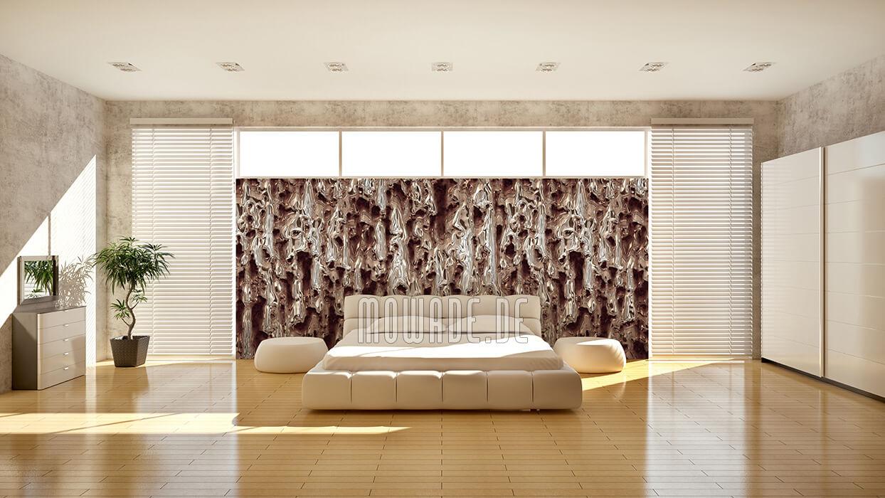 designtapete grau braun wohnzimmer lounge rost korrosion