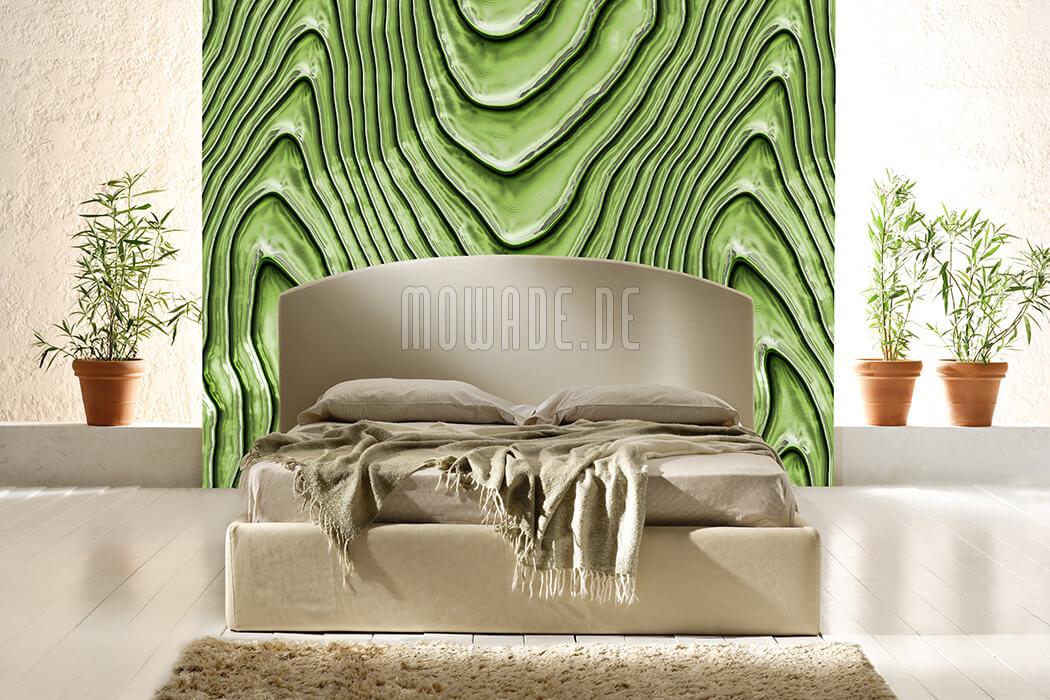 elegante wohnzimmer vlies-tapete limettengruen wellen