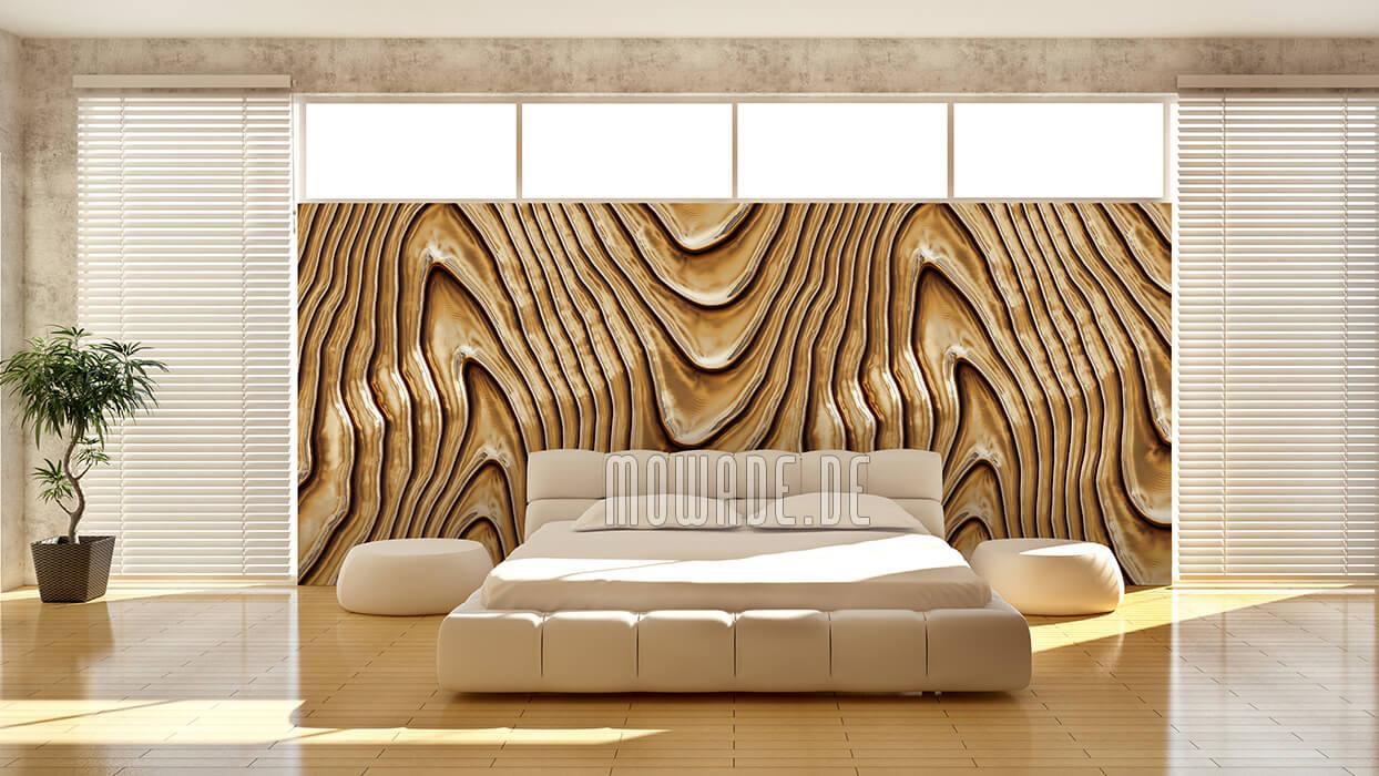 elegantes tapetendesign gold vlies wohnzimmer wellen