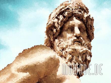 fototapete rom statue tuerkis braun ganges barock mosaik