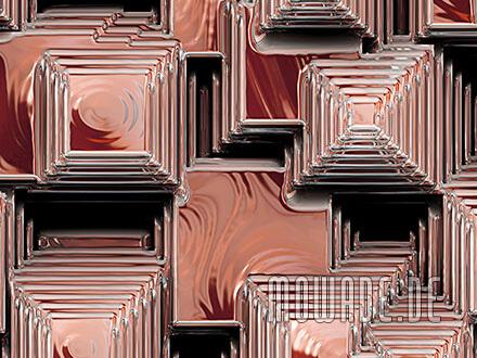 fototapeten online pyramiden kupfer-orange