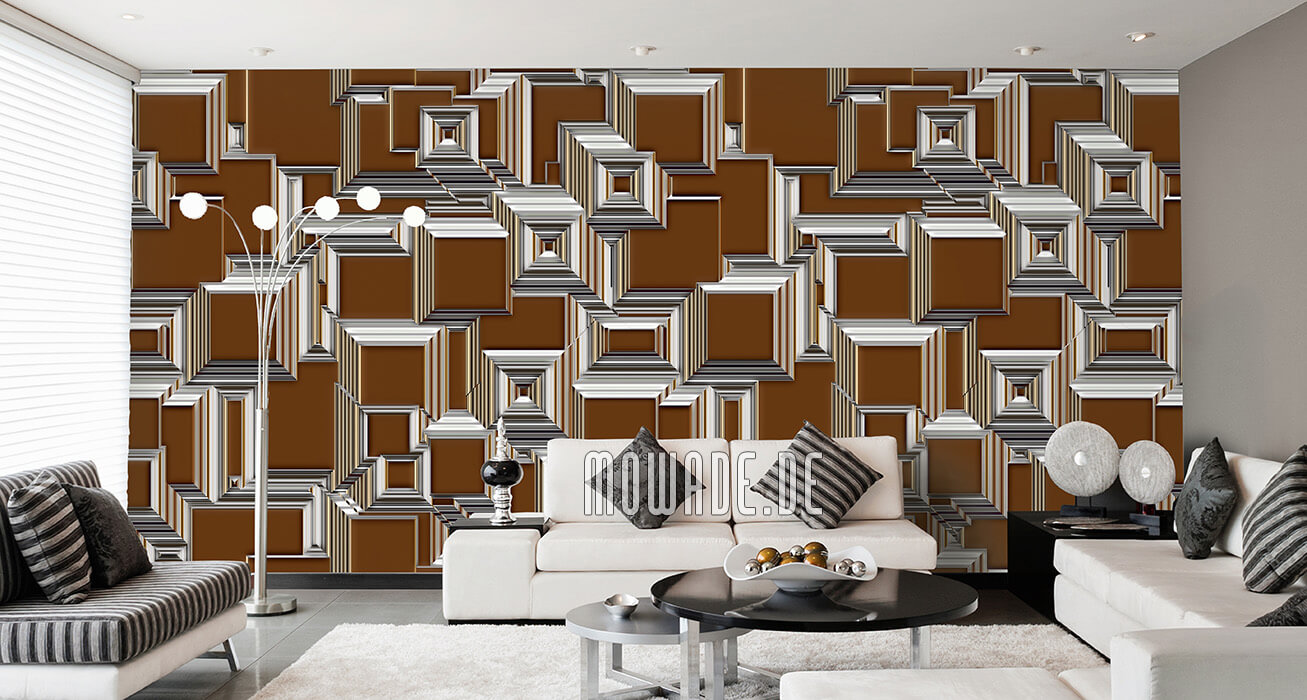geometrische bild-tapete stadt-ansicht cognac urban