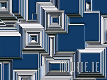 geometrische stadtansicht abstrakt vliestapete blau