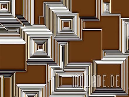 geometrisches stadt-bild cognac abstrakt tapete