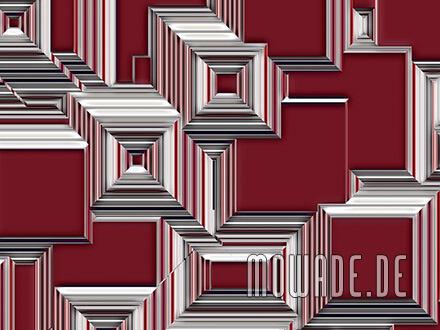 geometrisches wand-bild tapete weinrot stadt-bild