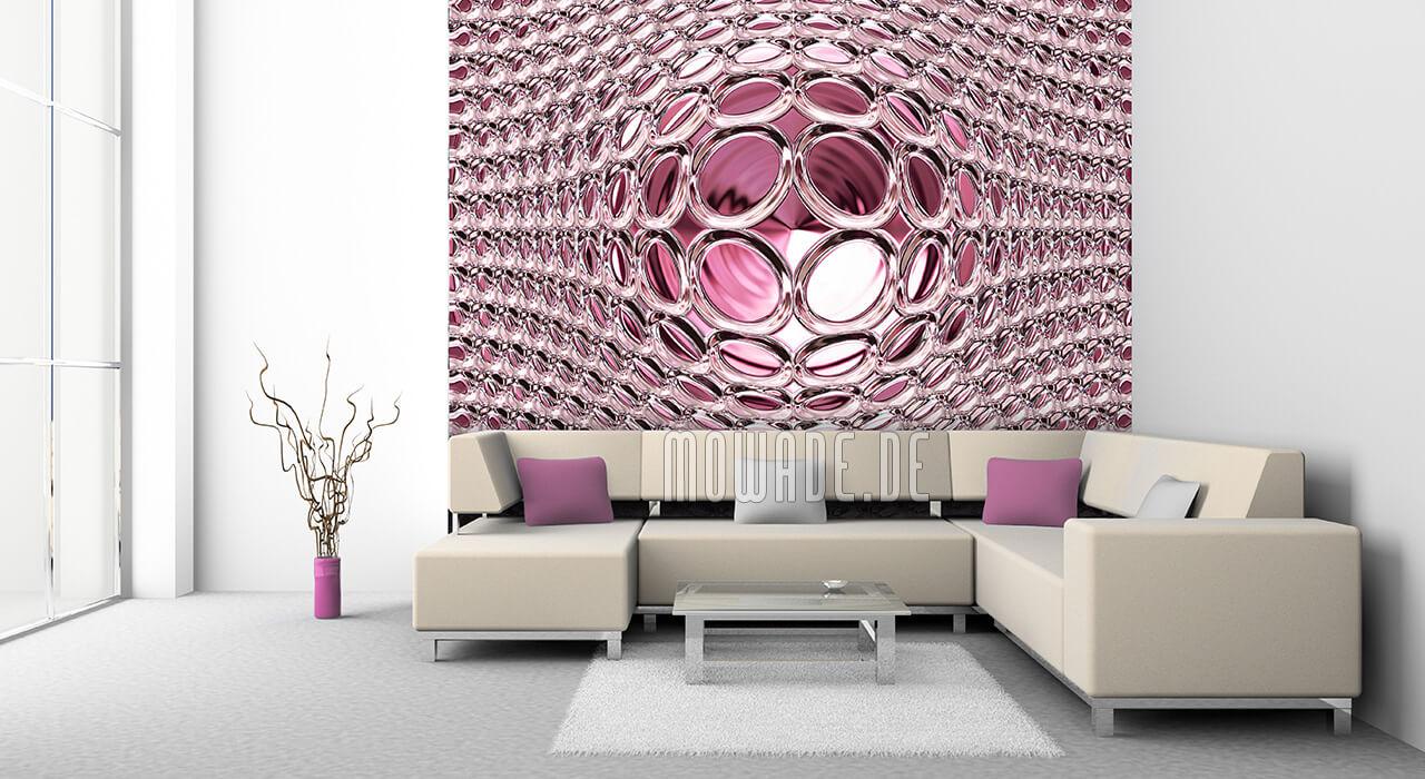 glamour tapete pink kugel