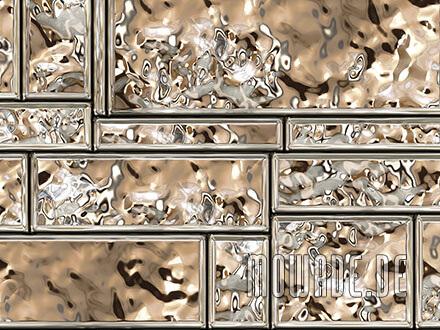 kissen-design gold metall-optik wohnzimmer edle mauersteine