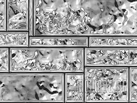 kissen-design silber-grau metall-optik wohnzimmer edle mauersteine
