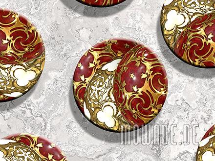 kissen weihnachts-deko sofa rot gold ornament-kugeln