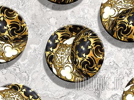 kissen weihnachts-deko sofa schwarz gold ornament-kugeln