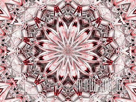 kissenmotiv neo-barock rosette rot modern