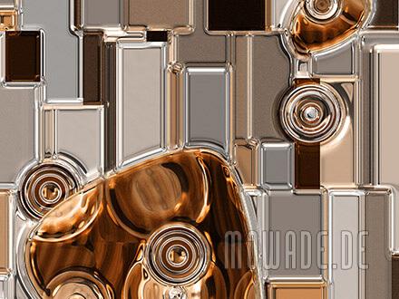 kunst online kaufen braun metall-look