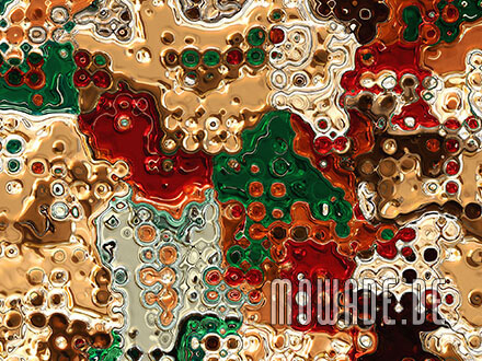 kunst rot gold gruen vliestapete
