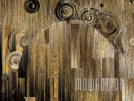 moderne bilder xxl schwarz gold schwebende kreise