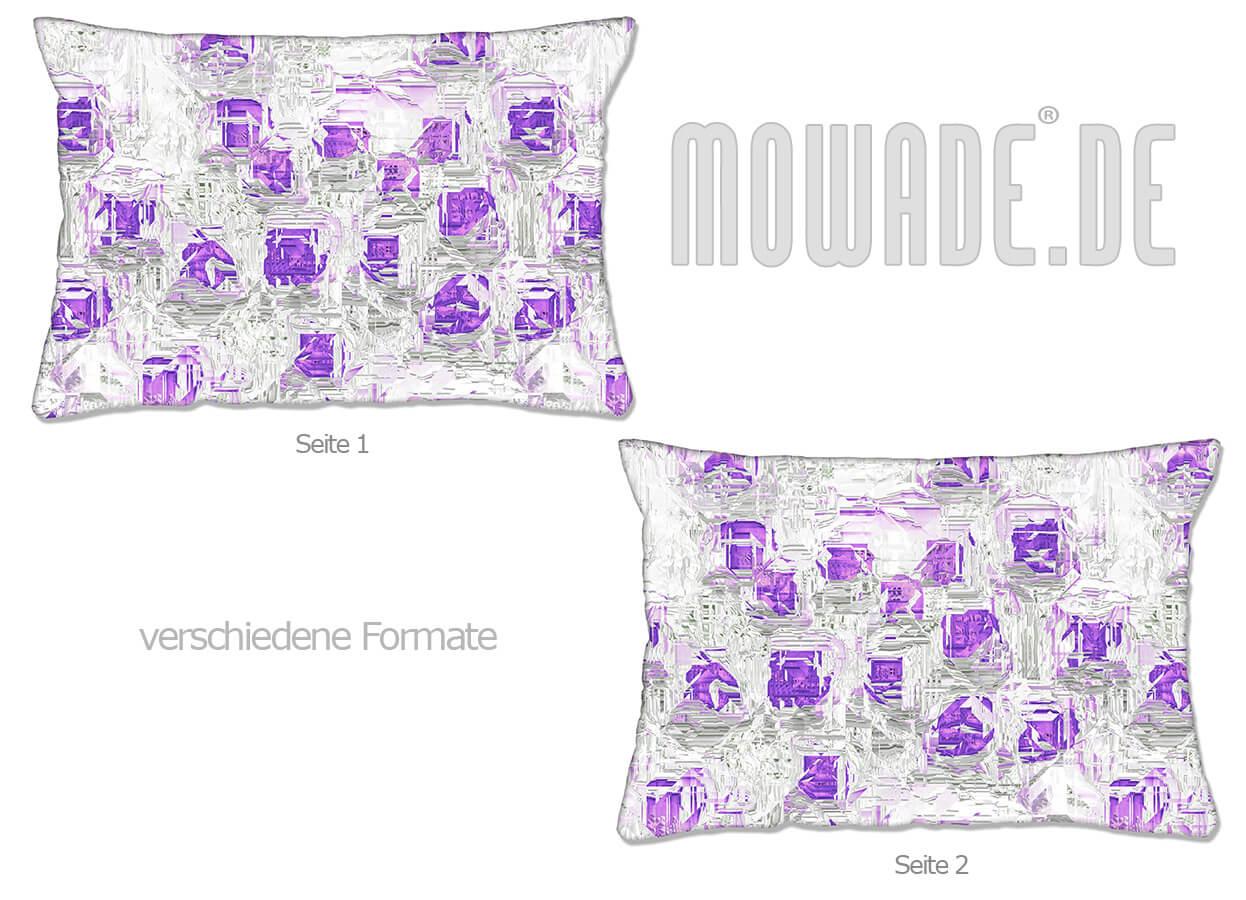 moderne deko kissen weiss flieder design facetten sofa couch 70x70 50x50 60x40 50x30 40x40