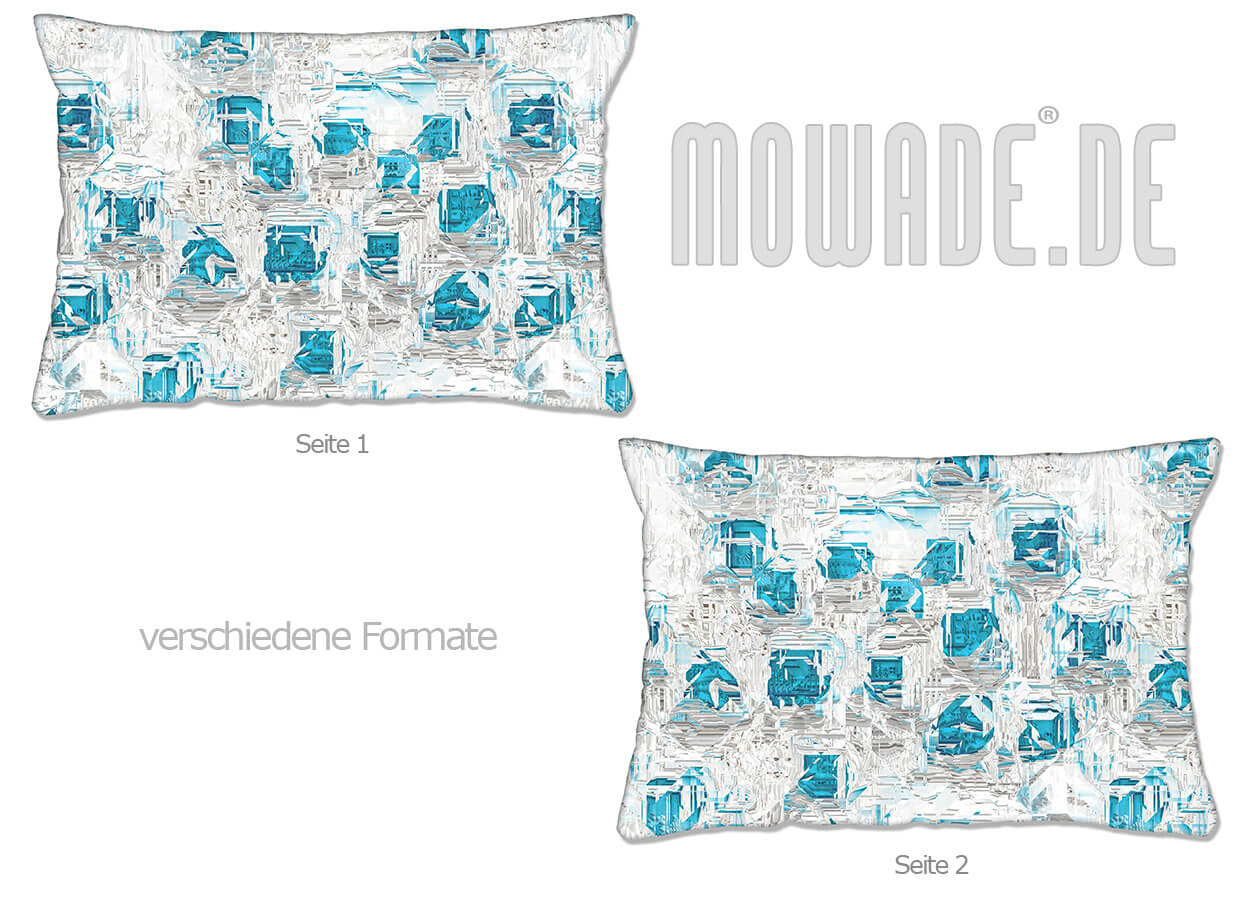 moderne deko kissen weiss tuerkis design facetten sofa couch 70x70 50x50 60x40 50x30 40x40