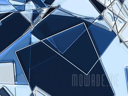 moderne kunst-bild-tapete blau quadrate