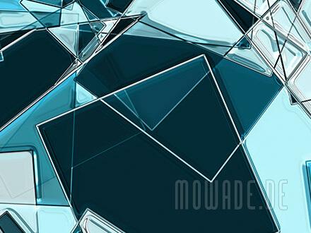 moderne kunst bild-tapete online tuerkis quadrate