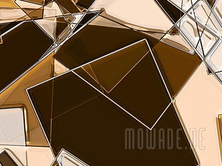 moderne kunst-tapete bild braun ocker beige quadrate