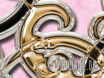 moderne ornament tapete rosa gold schwarz