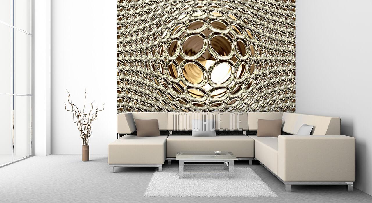 moderne tapete gold glamour-kugel