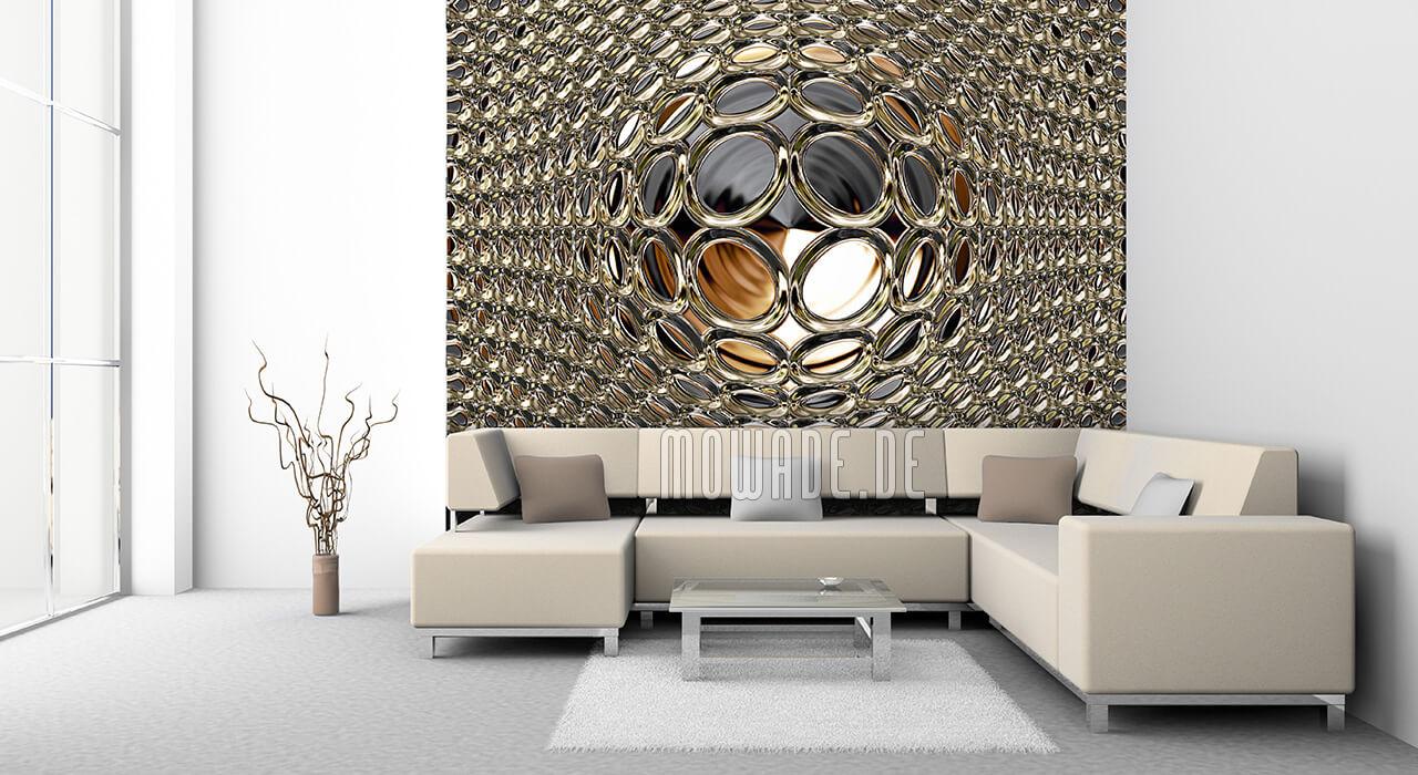 moderne tapeten online schwarz gold disco glamour kugel