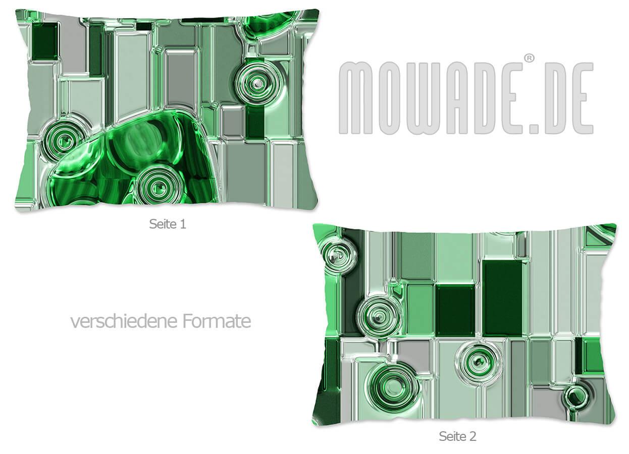 modernes design kissen gruen metall-relief-optik wohnzimmer-70x70 50x50 60x40 50x30 40x40