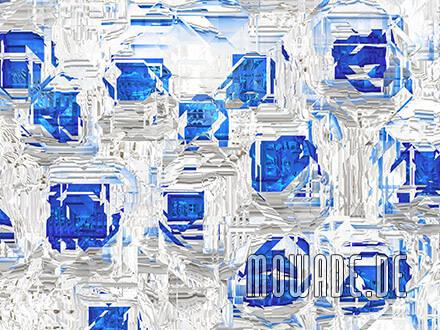 modernes kissen design weiss blau abstrakte facetten