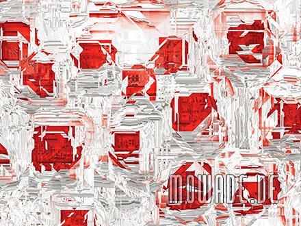 modernes kissen design weiss rot abstrakte facetten