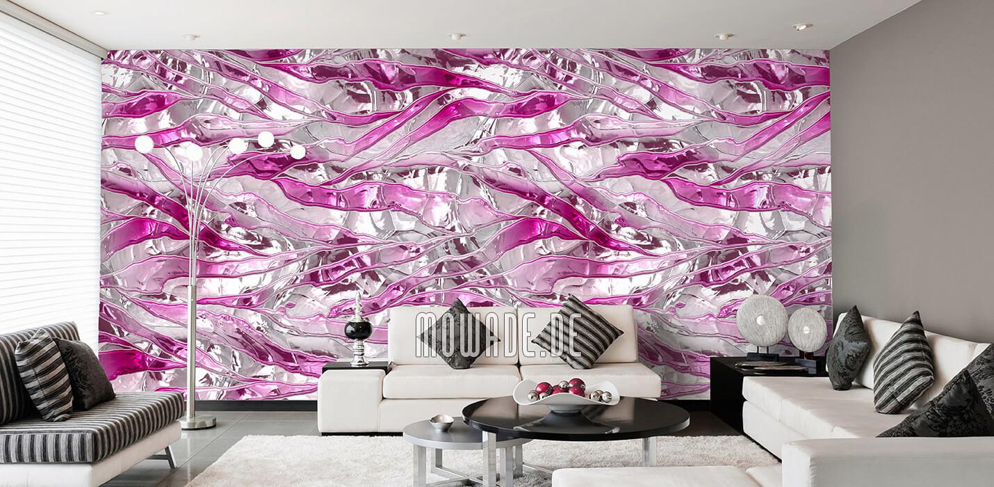 modernes tapeten design weiss pink bar lounge wohnzimmer knitter-streifen
