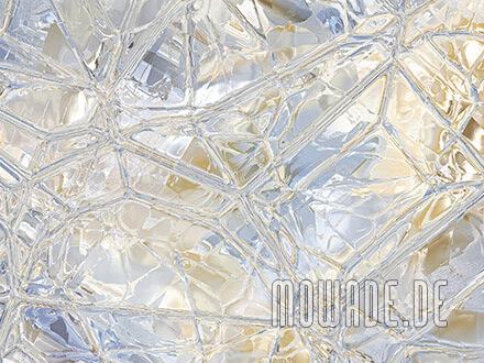 modernes tapetendesign pastellblau ocker glas-mosaik