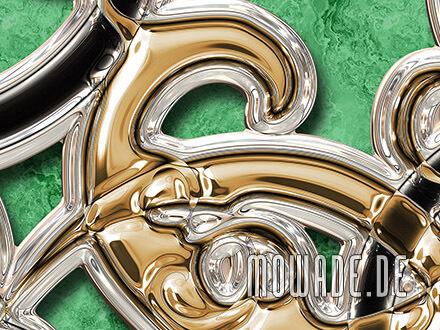 neo-barock tapete ornamente xxl gruen gold schwarz