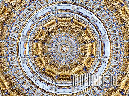 quadratische fototapete hellblau gold stuck neo-barock