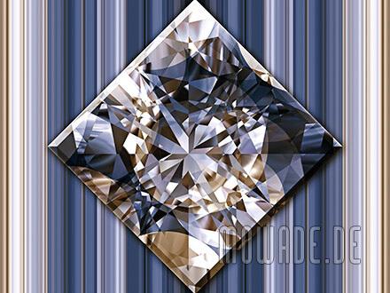 quadratisches kissen diamant bild graublau goldbraun wohnzimmer