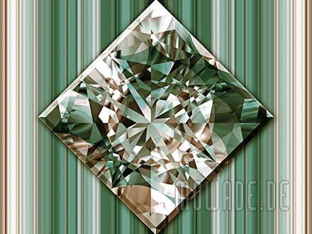 quadratisches kissen diamant bild gruen goldbraun wohnzimmer