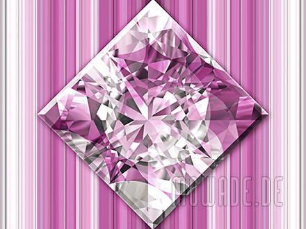 quadratisches kissen diamant bild rosa weiss wohnzimmer