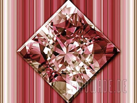 quadratisches kissen diamant bild rot goldbraun wohnzimmer